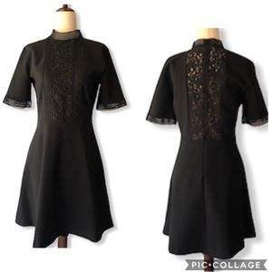 Zara Sheath Black Lace Dress